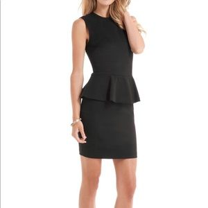 Guess by Marciano Black Peplum Mini Cocktail Dress